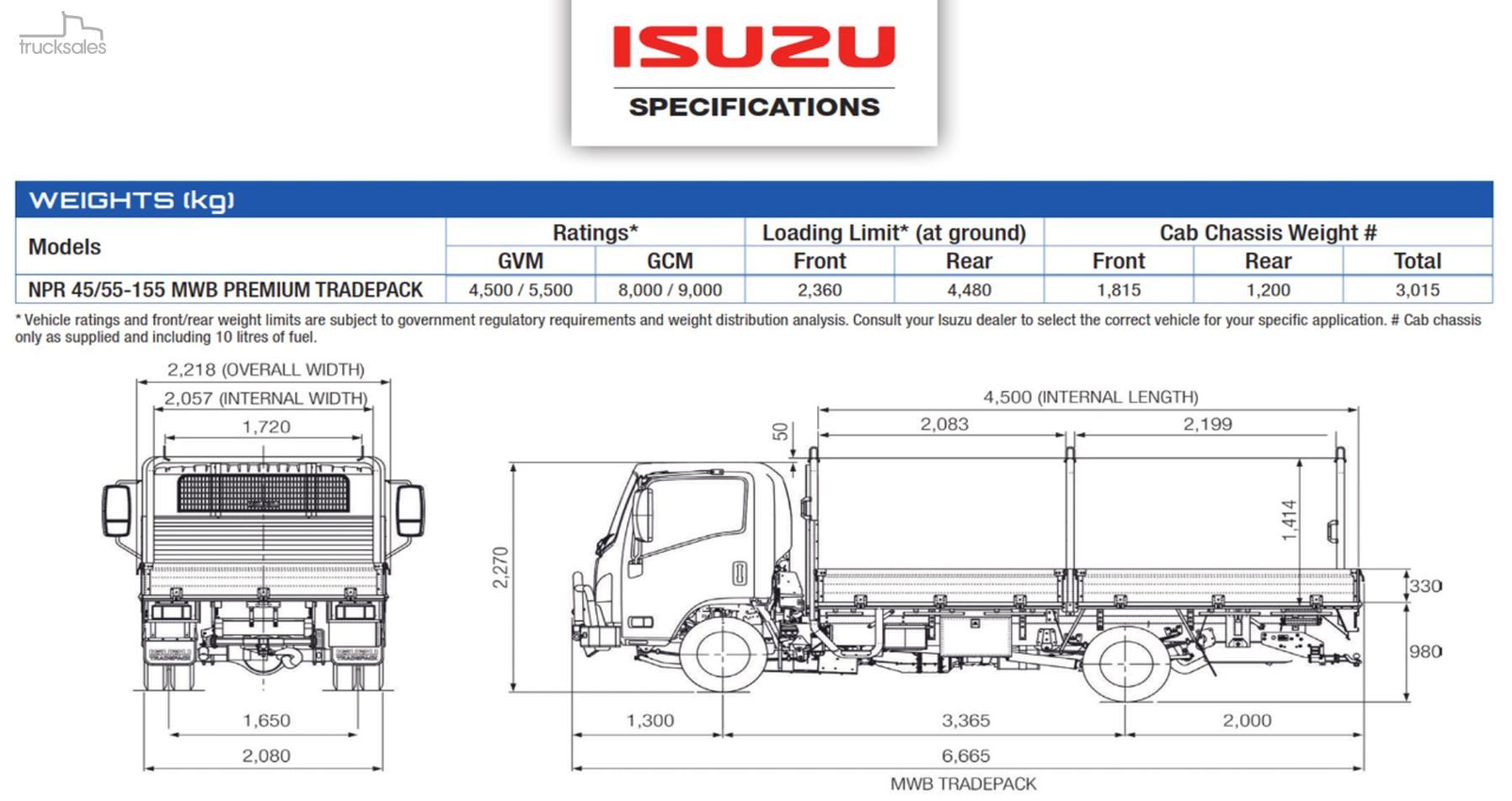 2018 Isuzu Npr 45 155 Mwb Premium Tradepack 2 3l Engine Diagram