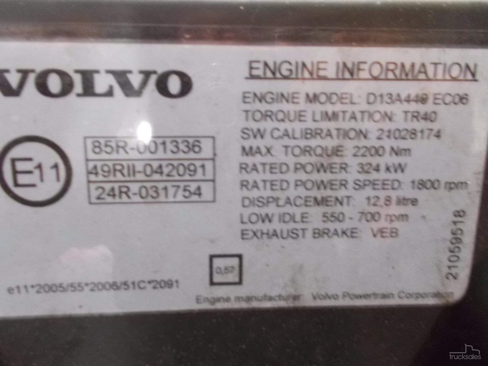 VOLVO D13A-OAG-AD-13946112 - trucksales com au
