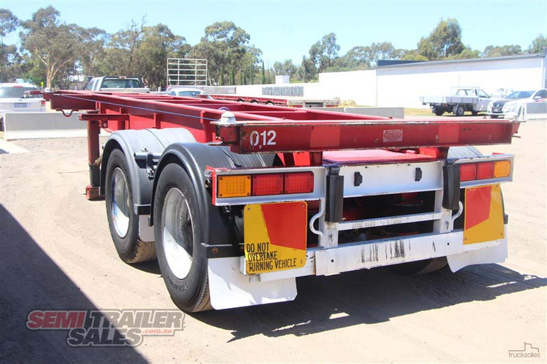 1994 Krueger 30ft Skel Semi Trailer With Container Pins Trucksales Wiring Colour Code Australia